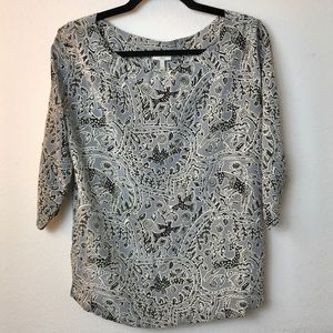 Joie Blouse Batik Pattern XS